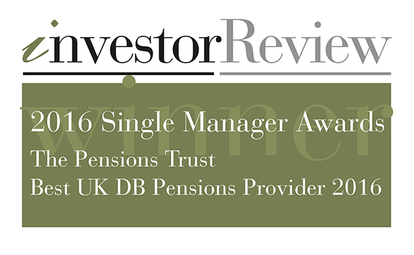 Investor Review - 2016 Single Manager Awards - Best UK DB Pensions Provider