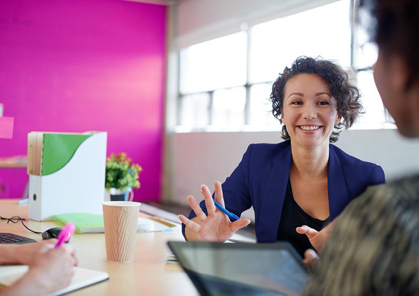 Employer at desk